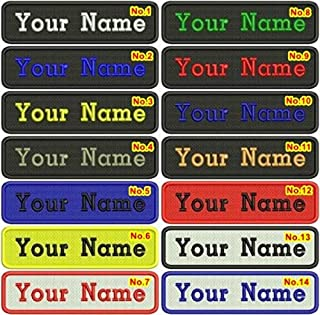 Rectangular 1 Line Custom Embroidered Name Tag Iron/Sew on Patch (Colors)