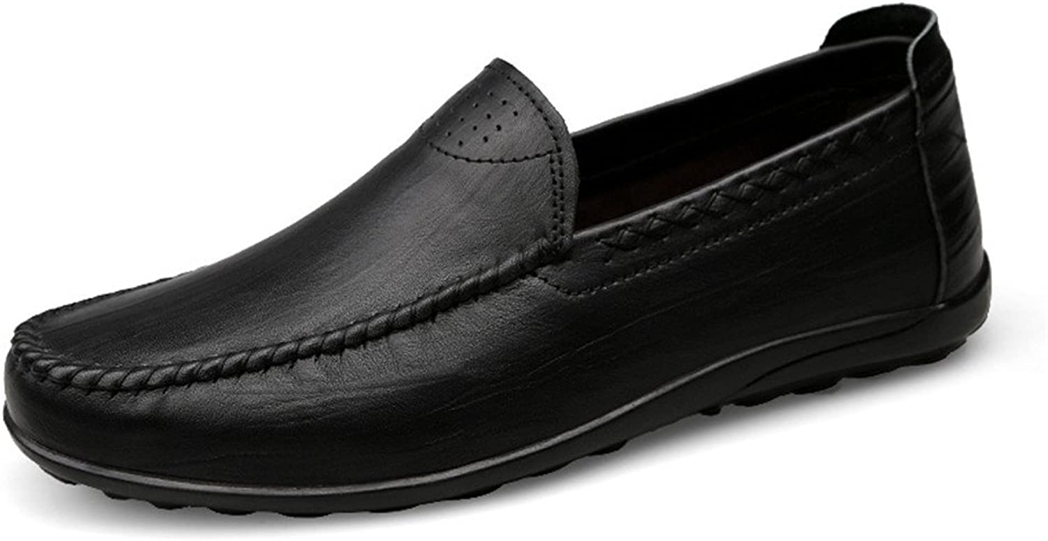 XHD-Men's shoes Men's Comfortable Driving Loafer Casual and Refreshing Premium Genuine Leather shoes with Soft Soles are Not Slippery Boat Moccasins