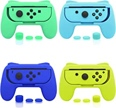 $22 » FASTSNAIL 4 Pack Grips Kit Compatible with Nintendo Switch Animal Crossing Joy-Con, Wear-Resistant Grip Controller Compati...