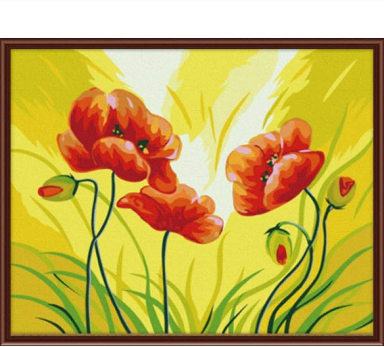 Waofe Neue Wandkunst Frameless Bilder Malen Nach Zahlen Diy Leinwand Ölgemälde Von Rot Blaume Wohnkultur Für Wohnzimmer G076 B07PQ1BB52 | Lassen Sie unsere Produkte in die Welt gehen