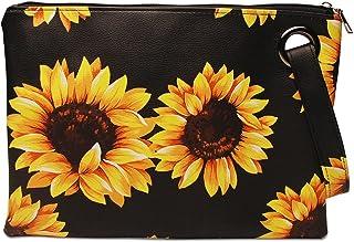 Orfila Women's Oversized Clutch Bag Purse Retro Envelope Evening Wristlet Handbag