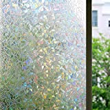 Bloss 3D Static Cling Glass Window Film Self-Adhesive Privacy Window Sticker Decorative Contact Paper, Vinly Heat Control Anti UV for Home and Office 17.7-by-78.7 Inches(45 X 200cm)