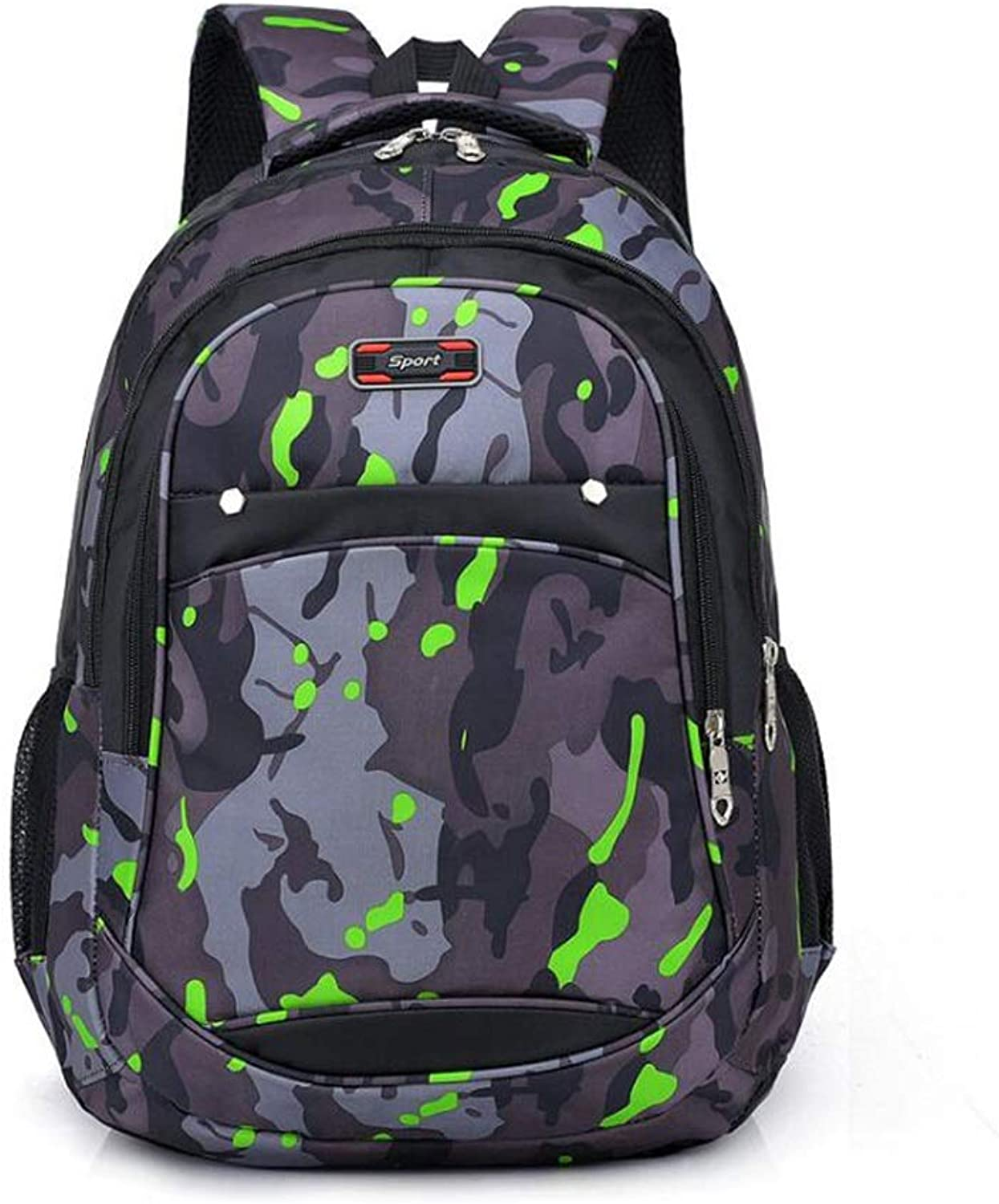 Women's Backpack, Fashion Camouflage Lightweight Casual Student Backpack Outdoor Backpack Portable Breathable Reduced Laptop Bag (color   B, Size   48  32  18cm)