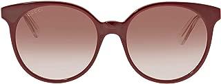 Gucci Women's Sunglasses Round GG0488S Burgundy/Brown