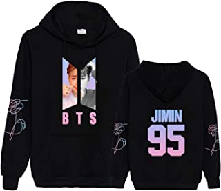Kpop BTS Love Yourself Hoodie Suga V Jimin Jungkook J Hope Jin World Tour Sweater Pullover Sweatshirt