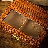 Caja de cigarros - Caja de cigarros importada Madera de Cedro humidor de Ventana Transparente Excelente Material (Color : B)