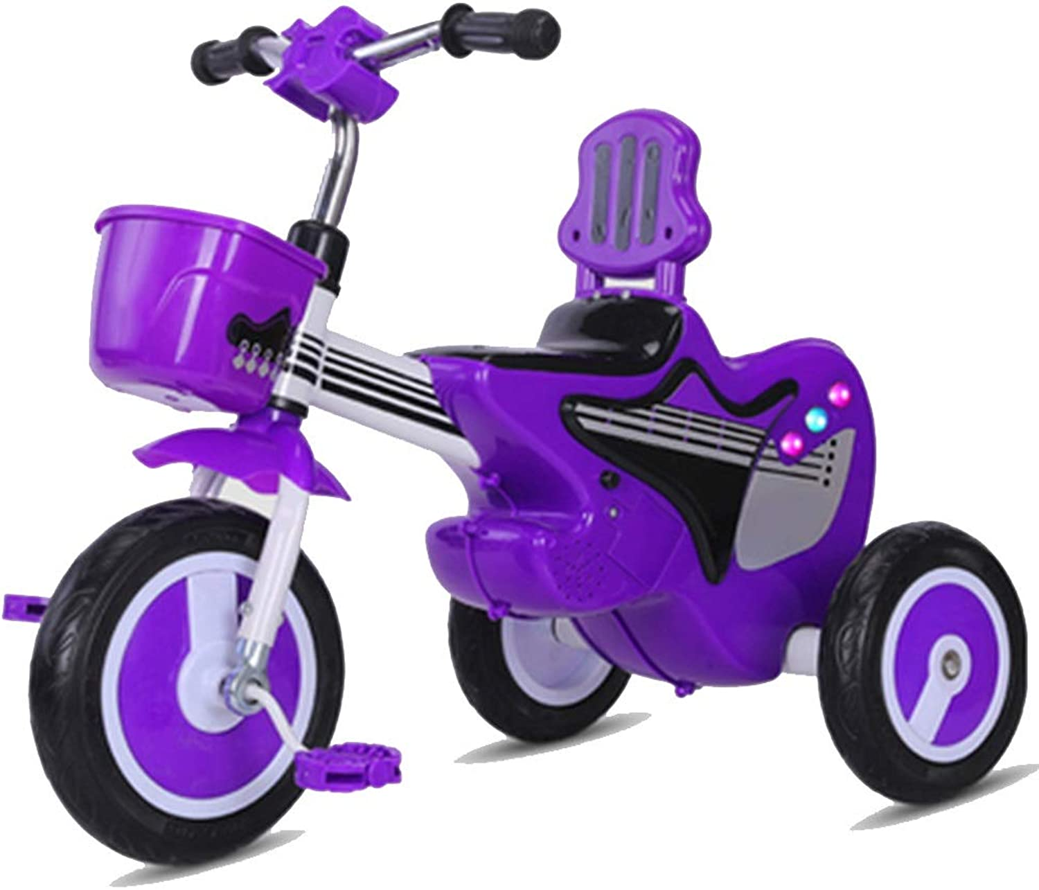 YUMEIGE Kids' Tricycles Kids Tricycle with Push Handle Kids Pedal Bicycle with Music 15 Years Old Load Weight 40kg Baby Carriage Boys Girls Toy Car Available