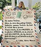 Fleece Fußkettchen für Meine Tochter Sohn Frau Brief PrinteQuilts Luftpost Fußkettchen Positive Ermutigen Sie anLove Gifts-style13,Flanell 130x150,China