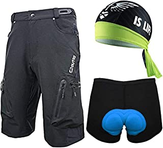 MTB Cycling Shorts Bicycle 3D Padded Underwear Bike Bandana Cap