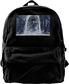 Mochila de lona de la belleza y la bestia, mochila de gimnasio, senderismo, portátil, bolsa de hombro para hombres y mujeres