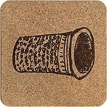 'Thimble' Square Cork Trivet / Pot Stand (TR00006693)