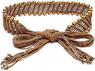 Bohemia Womens' Woven Belt Wax Rope Skirt Dress Decorative Tassel Belts