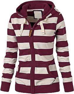 Women Sexy Zipper Tops Hoodie Hooded Sweatshirt Coat Jacket Casual Slim Jumper