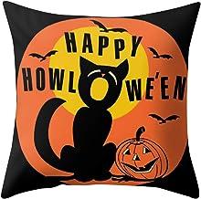 Weilov Halloween Taie d'oreiller Polyester Hug Taie d'oreiller Canapé Couverture de siège de Voiture Décoration pour la Ma...