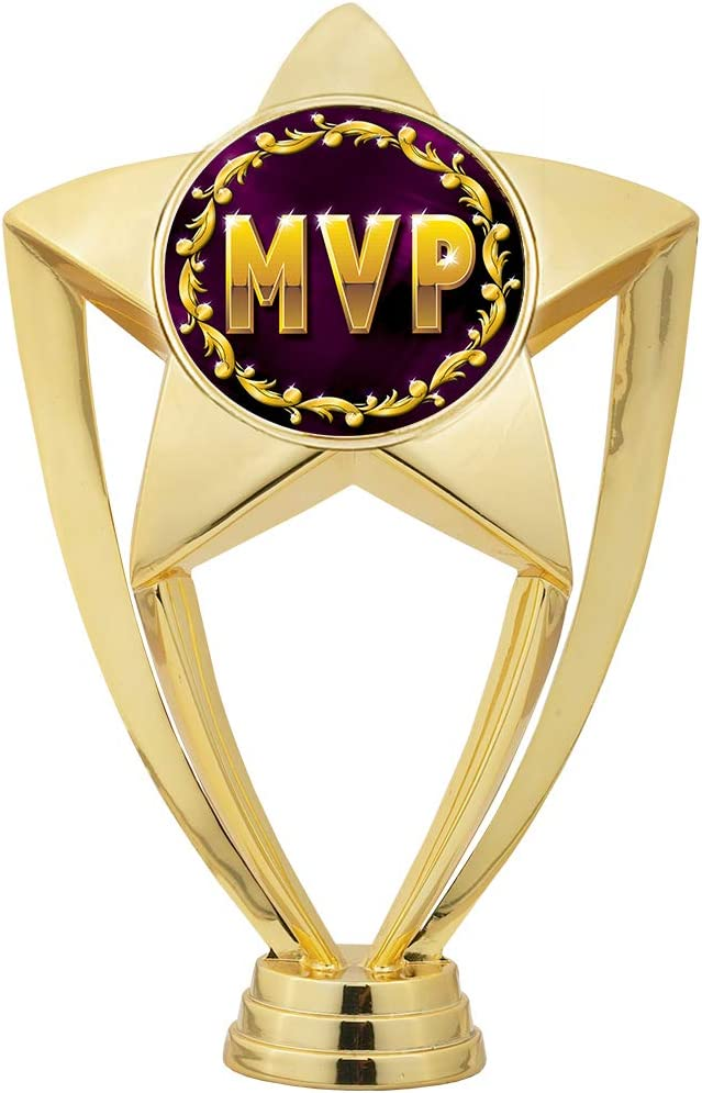 5.5 Gold Glitter MVP Trophies Custom Astral Star MVP Trophy Award Prime
