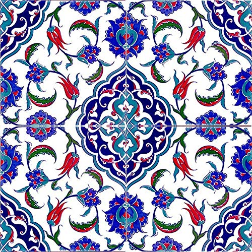 Cerames Feray - Azulejos turcos de pared (0,48 m2, 12 unidades), color azul