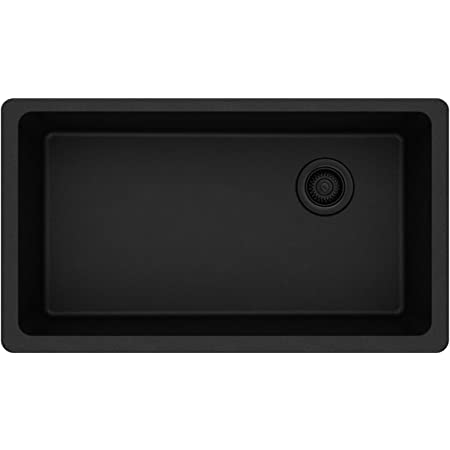 Elkay Quartz Classic ELGU13322BK0 Black Single Bowl Undermount Sink