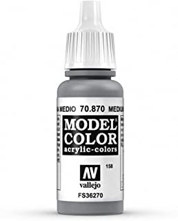 Vallejo Medium Sea Grey Model Color Paint, 17ml