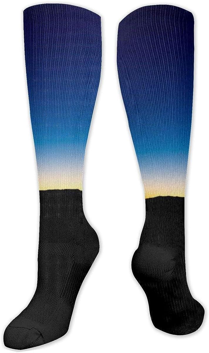 Horizon Sky Sunset Night Knee High Socks Leg Warmer Dresses Long Boot Stockings For Womens Cosplay Daily Wear