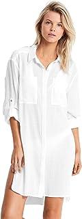 Seafolly Women's Crinkle Twill Beach Shirt Cover Basics