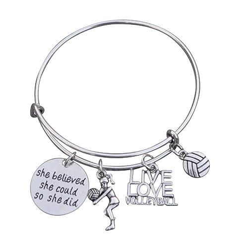 Volleyball Bracelet Girls Jewelry
