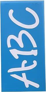 Westcott Letter Craft Lettering Stencil, Angelina Script, 3