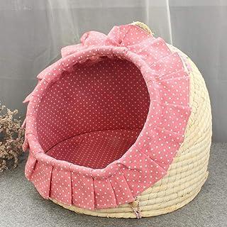 Nfudishpu Soft Kennel Small Dog Pet Nest Cat House Washable Mat Can Produce Yurt Cat Litter Than Bear