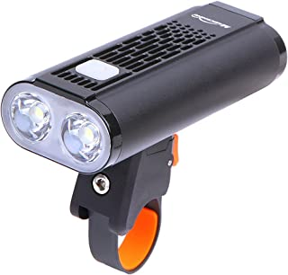 Magicshine Bike Lights, Monteer 1400 Bike Headlight, 2xCREE XM-L2 LEDs, 1400 lumens of max Output, All in one Design Road Bike Front Light USB Rechargeable and Battery Cartridge Design