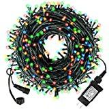 Diojilad Multicolor LED Christmas Lights Outdoor Indoor Christmas Decoration Lights 105Ft 300LED UL Certified(4 Sets Connectable), 8 Modes Waterproof Fairy Lights for Christmas Tree, Wedding, Party