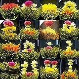 20 kinds Organic Blooming Flower Tea China Green Tea Handmade Artistic Blooming Tea Balls Flowering Wedding Gift