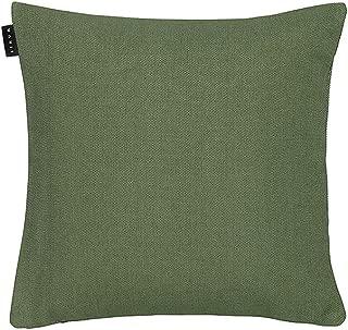 Funda de cojín de Lino, algodón, Color Verde Oliva Oscuro, 40 x 40 x 0,75 cm