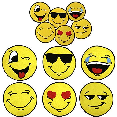 6x Magisches Handtuch Set Emoji Smiley Magic Towel 30 x 30 Emojicon Lach Smile