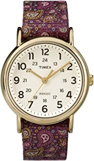 Originals TW2P81000 Ladies Weekender Slip Thru Burgundy Paisley Reversible Strap Watch