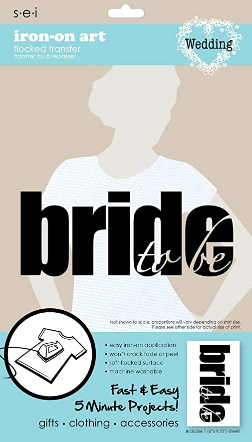 SEI 5-1/2-Inch by 9-1/4-Inch Bride to Be Iron on Transfer, 1 Sheet
