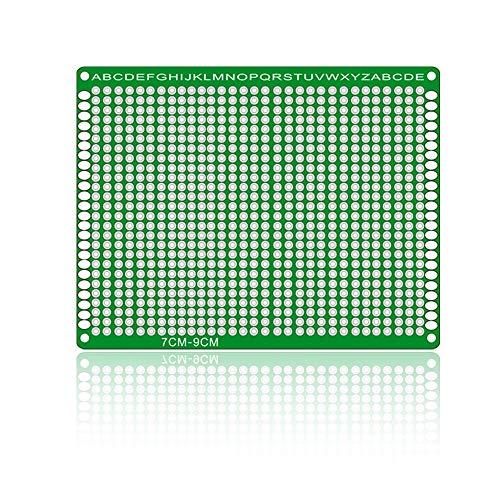 Módulo electrónico Conveniente For El Tablero Universal Sided-Doble De Fibra De Vidrio De Prototipos PCB (7X 9/2-Piece Pack)