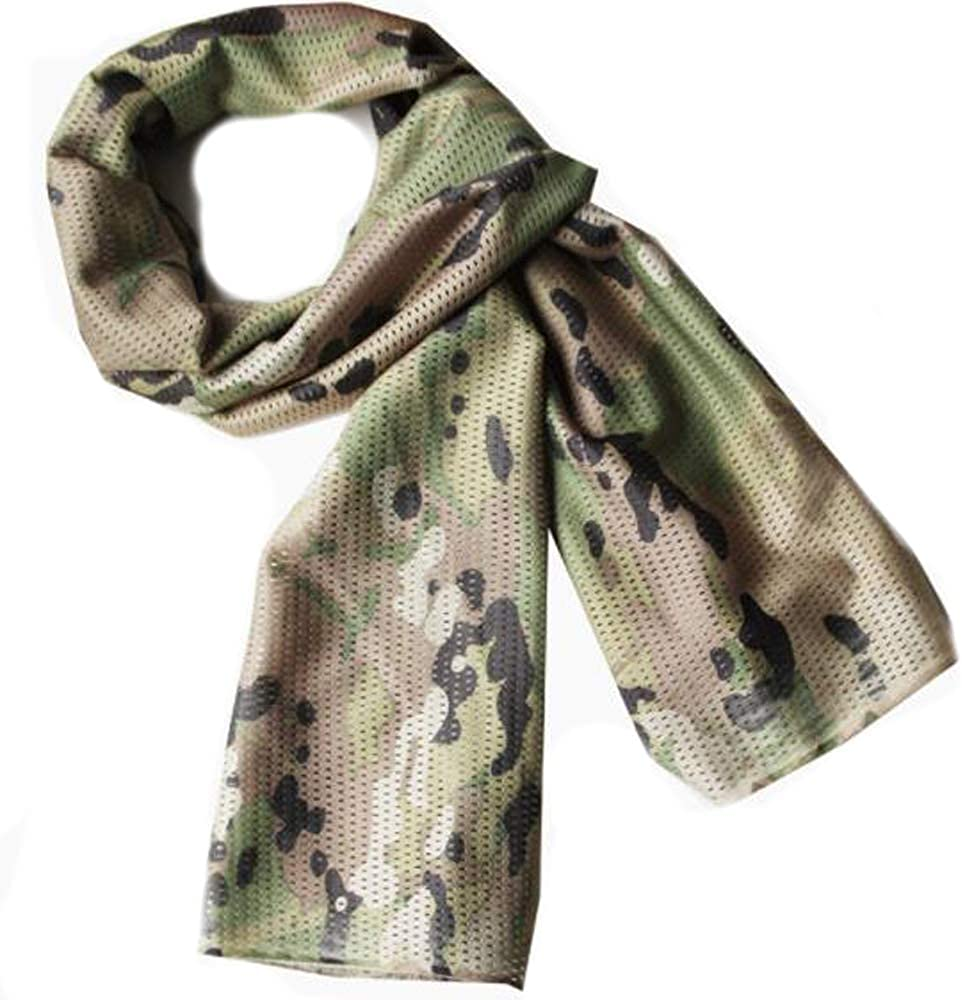 Fort Max 73% OFF Worth Mall Tactical Scarf Camo Breathable Patte Perforated Camouflage