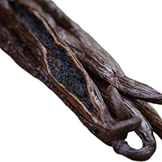 Vainas de vainilla (tahitiana), Producto de calidad Gourmet grado A, de 12,7 a 15,2 cm para extracto, hornear, café, infusionar, cocinar, 5 unidades