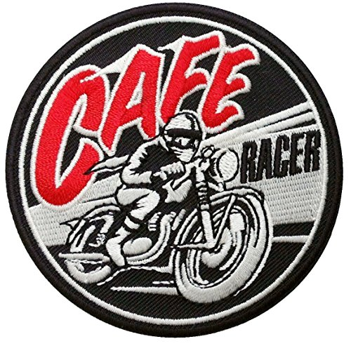 Titan One Europe - Cafe Racer Motorcycle Old School Biker Jacket Retro Patch Parche Motero Bordado Termoadhesivo