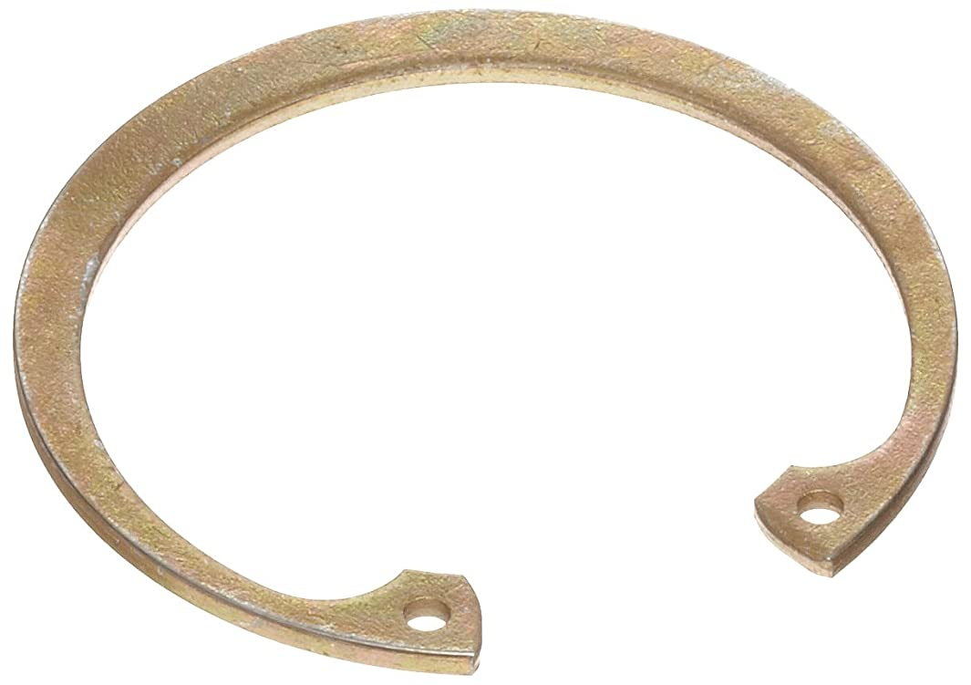 Standard Internal Retaining Ring, Tapered Section, SAE 1060-1090 Carbon Steel, Zinc Yellow Chromate Plated Finish, 2-5/32