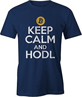RiotBunny Keep Calm and HODL Crypto Trader Miner Bitcoin Cryptocurrency BTC LTC Digital Currency T-Shirt Camiseta Hombres