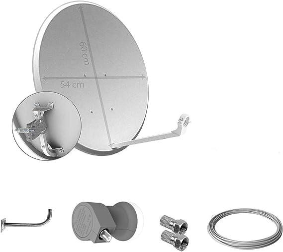 Kit de Antena parabolica de 60 cm (Sin Cable)