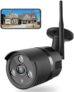 NETVUE Cámara de vigilancia Exterior 1080P WiFi cámara Exterior IP66 Impermeable cámara de Seguridad con visión Nocturna Audio de Dos vías detección de Movimiento