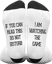 Unisex Adult Socks Funny Letters Novelty Gift Socks for Men Women