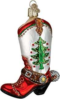 Christmas in Texas Ornament Collection (Red Boot) Gift Boxed