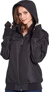 BOMBAX Women 10 Pocket Travel Jacket Hoodie Slim Fit Flight Bomber Coat Pillow