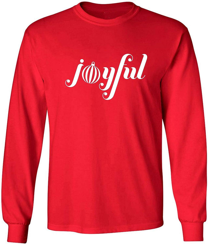Joyful Adult Long Sleeve T-Shirt in Red - XXX-Large