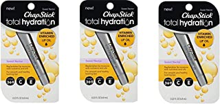3 Pack Chap Stick Total Hydration Vitamin Enriched Lip Oil Sweet Nectar