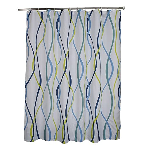 Light Blue And Green Modern Curtains Amazoncom