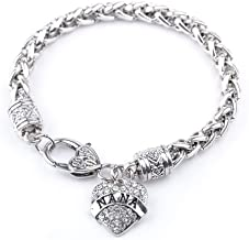 BANCHELLE Heart-Shaped Letter Bracelet for Women Girl Silver Jewelry