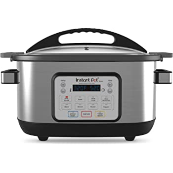 Instant Pot 6 Qt Aura Multi-Use Programmable Multicooker, Silver (Renewed)